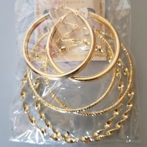 Jewelry - 3 Piece Gold Tone Earring set